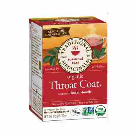 1. Traditional Medicinals Organic Throat Coat Tea