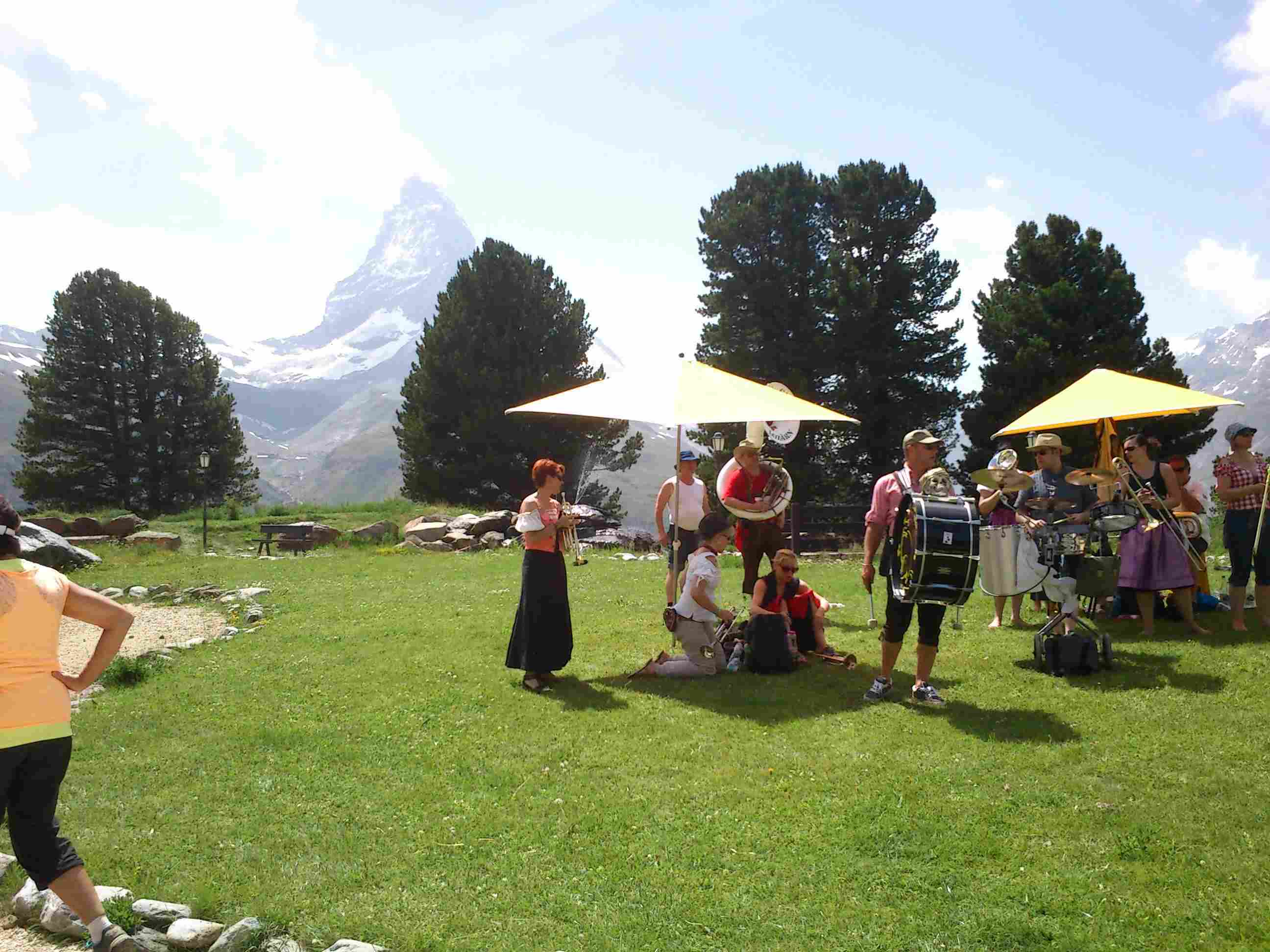 Brass band on Zermatt marathon