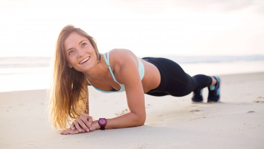 here is this month's challenge for runners, planks!