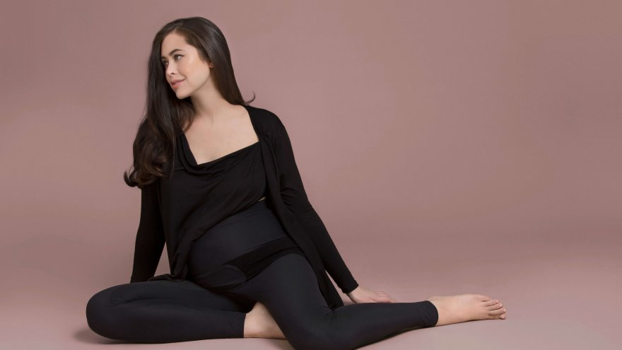 The leggings from goodbody good mommy are comfortable and provide support for pregnant runners.
