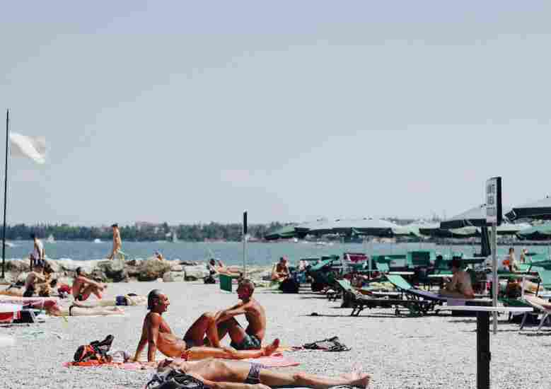 people tanning at a beach