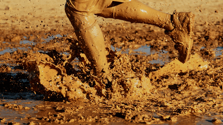 Tips for running in the mud.