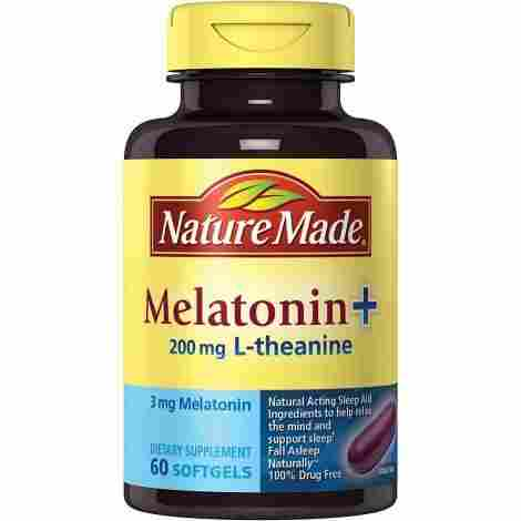 9. Nature Made Melatonin + L-theanine