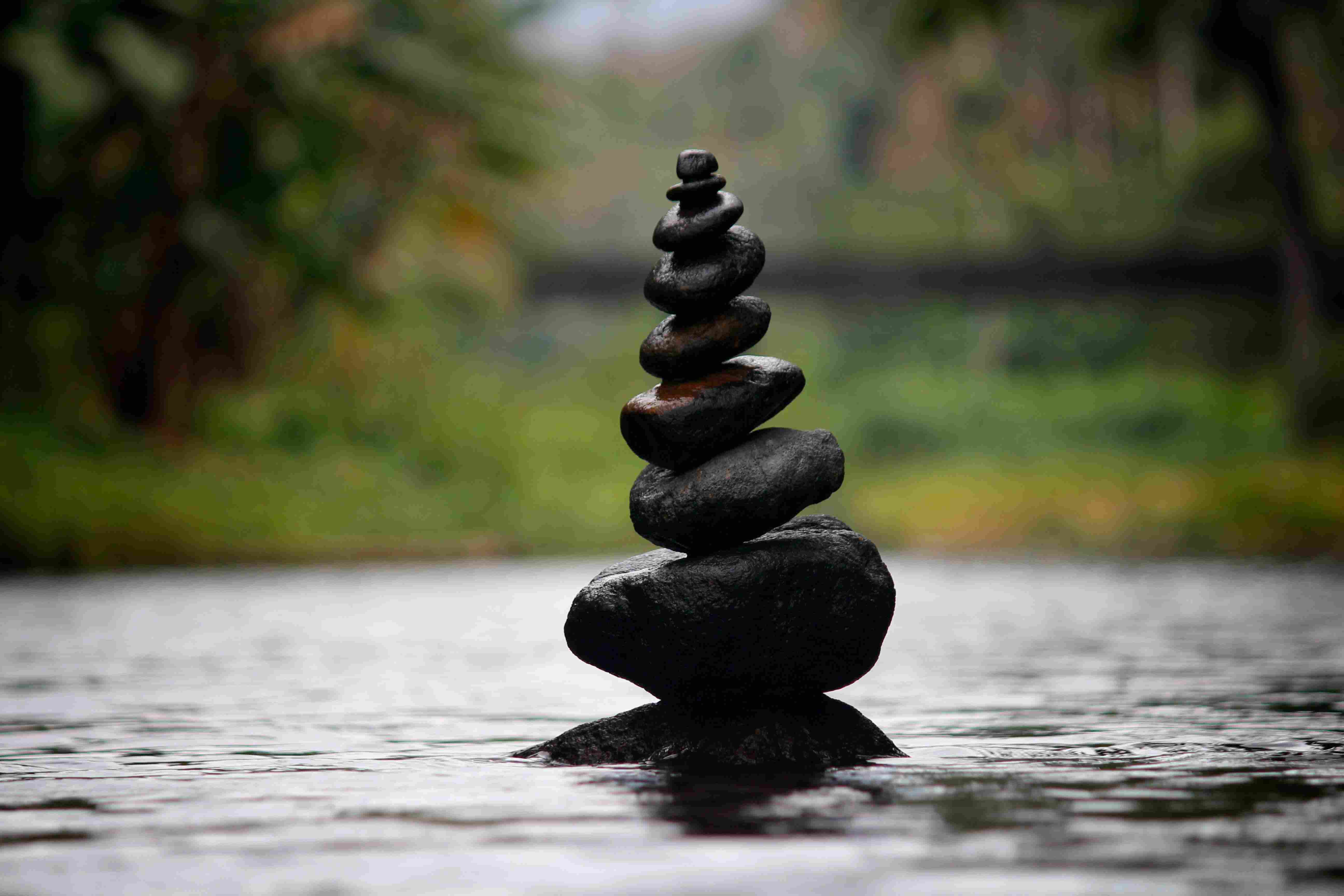 Meditation rock stack