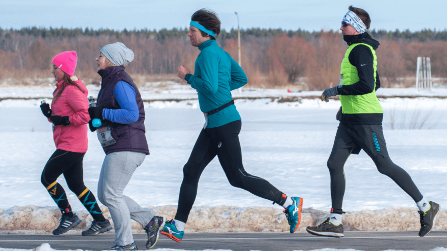 running safely in the winter