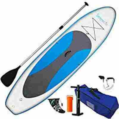 1. Serene Life Stand Up Inflatable Paddleboard