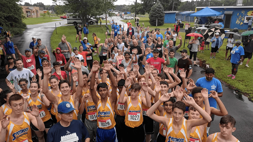 The Spotswood 5k ran by the high school cross country team and locals.